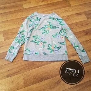 👻Old Navy Sweater, Bird/Flower, Small👻